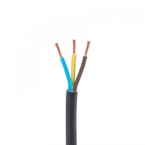 Przewód OMY 3x1,5 mm2 H03VV-F 300V czarny